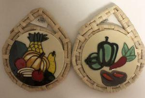 Rattan and Ceramic Trivets for Sale in Pembroke Pines, FL