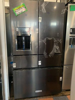 New Dark Stainless Kitchen Aid 5 Door for Sale in Burbank, CA