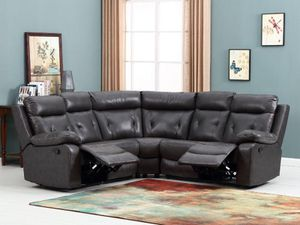 """Only $50 Down! New Power Sectional. Grey Leather. 80"""" x 80"""" x 40"""" High. Free Delivery! for Sale in Los Angeles, CA"""