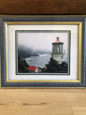 Framed matted lighthouse picture for Sale in Mount Prospect, IL