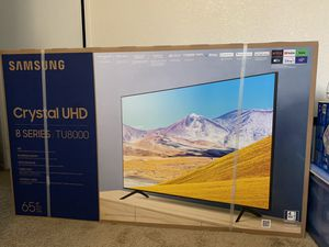 "SAMSUNG 65"" Class TU8000 Crystal UHD 4K Smart TV (2020) for Sale in Riverside, CA"