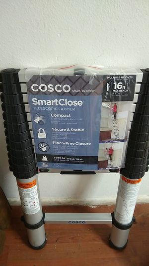 Cosco smartclose telescopic ladder 16ft for Sale in Klamath Falls, OR