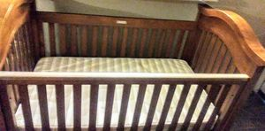 Wooden baby bed with mattress i will traded the baby bed and mattress for a wifi phone that has no locks on the phone no google lock and 20 cash for Sale in Austin, TX