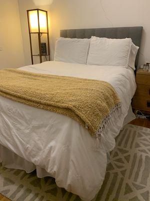 Full Bed (Mattress, Mattress Topper, Bed Frame, Headboard) for Sale in San Francisco, CA