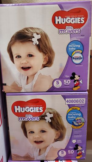2 boxes Huggies size 5 for Sale in Renton, WA