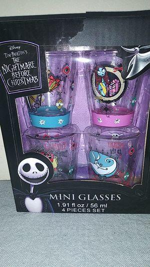 Brand new The Nightmare Before Christmas mini shot glasses for Sale in Clovis, CA