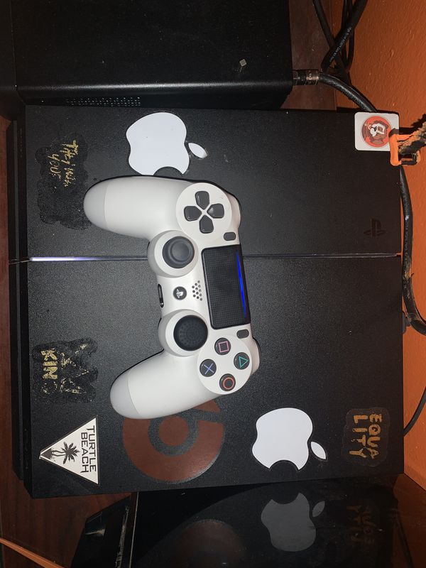 PS4 with controller and account