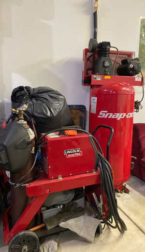 Snap- on air compressor and Lincoln welder on cart! for Sale in Vancouver, WA