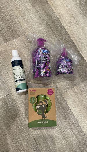 Dog shampoo & poop bag & oral hygiene for Sale in Irvine, CA