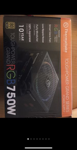 Thermaltake Grand RGB 750W Power Supply for Sale in North Las Vegas, NV
