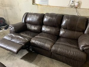 Reclining Leather sofa and love seat set for Sale in Beaverton, OR