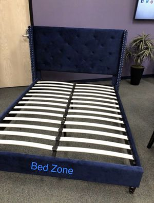 BRAND NEW FABRIC TUFTED PLATFORM BED FRAME IN TWIN / FULL / QUEEN / KING / CAL KING for Sale in Livermore, CA