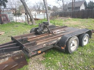 14 1/2 x 8 trailer for sale all lights works heavy duty is home made not title bill of sale only $850 for Sale in San Antonio, TX