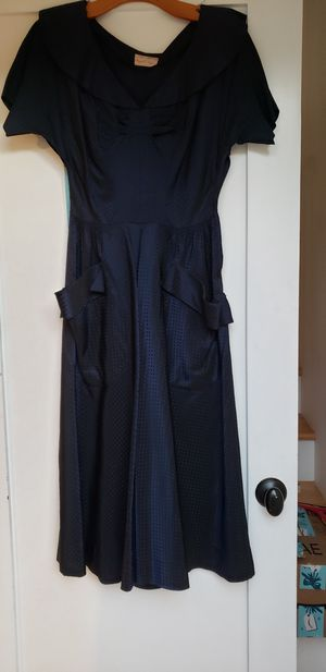 True Vintage 1950's Circle Dress, Blue, Small for Sale in San Diego, CA