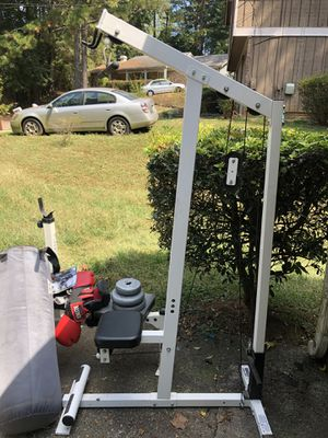 HOME GYM....Weight bench,punching bag, pull up station , and treadmill for Sale in Decatur, GA