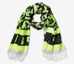 Victoria's Secret PINK Neon Green Black Classic Fringe Blanket Scarf NEW NWT for Sale in Tempe, AZ