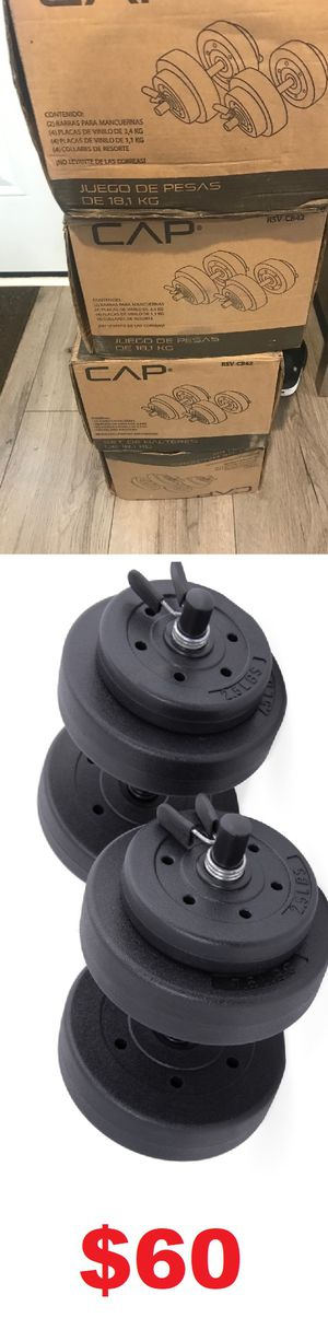 40 Lb Adjustable Dumbbell Set for Sale in Long Beach, CA
