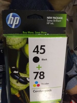 HP ink 45 black 78 color twin pack for Sale in Columbia, SC