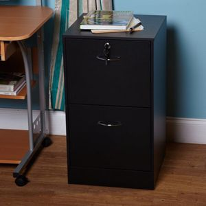 Drawer Vertical Wood Lockable Filing Cabinet, Black. B17-9620 for Sale in St. Louis, MO