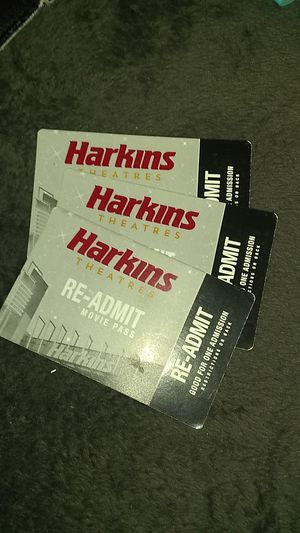 3 Harkins theater tickets for Sale in Los Angeles, CA