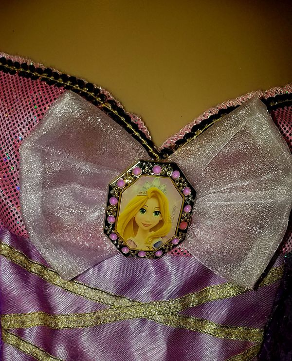 DISNEY RAPUNZEL Girls Elegant Sz. 5-7 dance costume fancy pageant dress up ballet princess Halloween