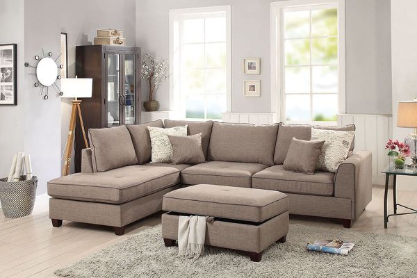 Sectional sofa with ottoman on sale @ Elegant Furniture 🎈🛋