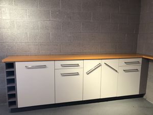 Custom cabinets with orange man made quartz for Sale in Wheat Ridge, CO