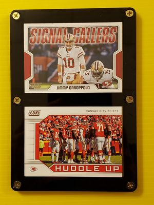 Patrick Mahomes & Jimmy Garoppolo Super Bowl Football Cards for Sale in Wichita, KS