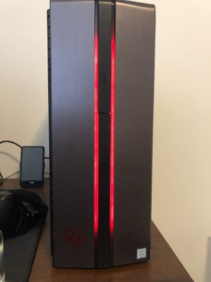 Like New HP OMEN Gaming PC, Nvidia GTX 1070, intel i7, 16GB RAM, 256 SSD, 1TB HDD, RGB lights, with extended HP warranty till October 2020 for Sale in Springfield, VA