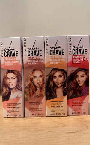 Clairol Color Crave hair makeup: fun, temporary color for light to dark hair for Sale in Alexandria, VA