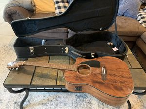 Fender Acoustic-Electric Guitar CD60CE and Fender Case for Sale in Midland, TX