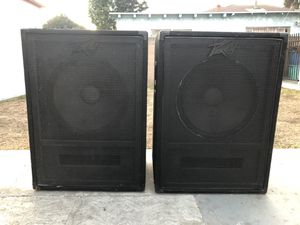 2. 15 inches peavey speaker's bass good condition ready for band or. Dj for Sale in Long Beach, CA