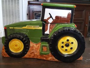John Deere Tractor Ceramic Cookie Jar by Gibson Harvest Fall for Sale in Beaumont, CA