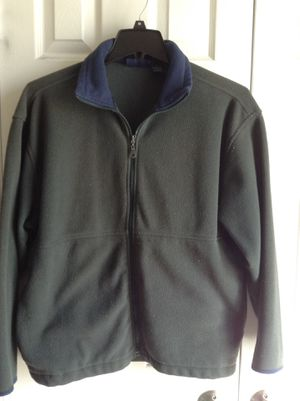 Light Fleece Jacket - Dark Green / Olive Green - gently used, good condition - $15 for Sale in Gaithersburg, MD
