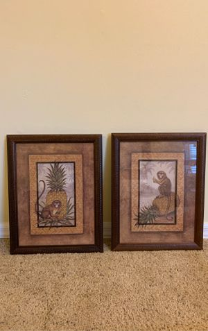 Pair coastal print with inner fillet frame for Sale in Valrico, FL