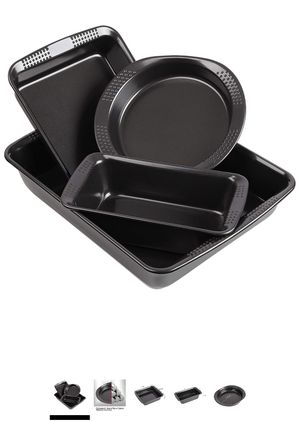 Nonstick Bakeware Set of 4 Piece Essential Baking Pans with Dotted Handle - Commercial Grade Thicken Pans Baking Sheet with Non Stick Easy Food Remov for Sale in Hacienda Heights, CA