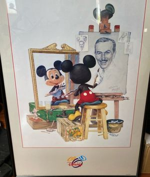 Mickey mouse and Walt Disney numbered print for Sale in Renton, WA