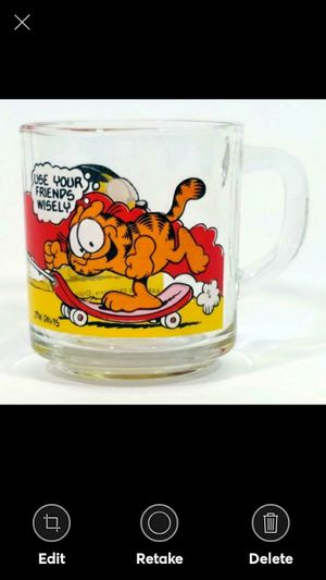 Vintage McDonalds Garfield USE YOUR FRIENDS WISELY cup Mug Jim Davis 1978 for Sale in Lynchburg, VA
