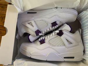 Jordan 4 Retro Metallic Purple size 10.5 for Sale in Philadelphia, PA