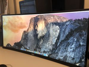 "Dell UltraSharp 34"" Curved Ultrawide LED Monitor- 3440 x 1440 - EXCELLENT CONDITION for Sale in Pembroke Park, FL"