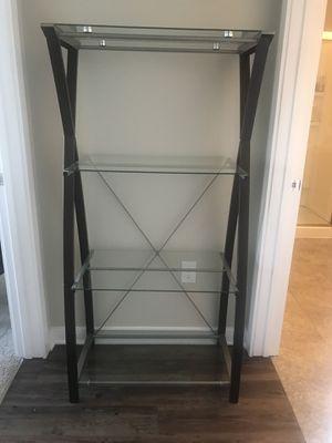 Glass bookshelf for Sale in Columbus, OH