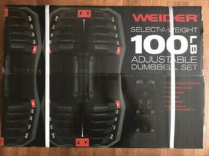 Weider Adjustable Weights 100lbS TOTAL/ 50LB EACH DUMBBELL 5 in 1 DUMBBELL for Sale in Anaheim, CA