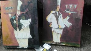 Two smaller wall paintings for Sale in Oakland, CA