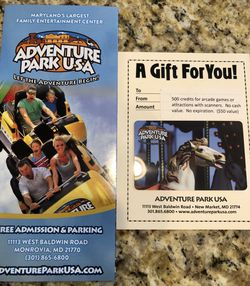 Adventure Park USA Pass for Sale in Germantown, MD