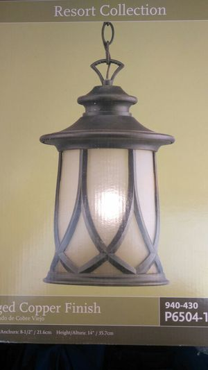 Hanging porch light by progress light. for Sale in Delaware, OH