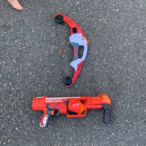 Nerf Mega Gun And Bow for Sale in Fallbrook, CA