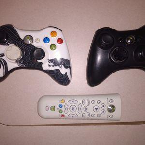 2 Xbox 360 Wireless Controllers,Media Remote for Sale in Denham Springs, LA