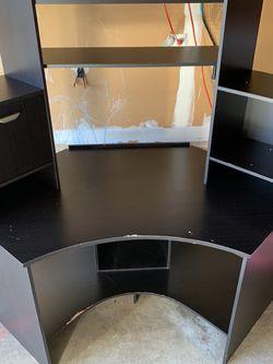 Brown Corner Desk With Hutch for Sale in Herndon,  VA