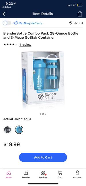 Blender Bottle GoStak 28oz blender bottle and 3 stack of containers for Sale in Corona, CA