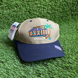 Vintage super bowl xxxiii snapback one size fits all cap hat clothing nfl football vtg 90s florida for Sale in Duluth, GA